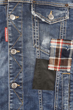 Patch Dan Jacket in Blue Wash DSQUARED2