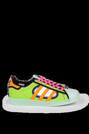 Superstar Simpsons Squishee Shoes in Multicolor ADIDAS ORIGINALS