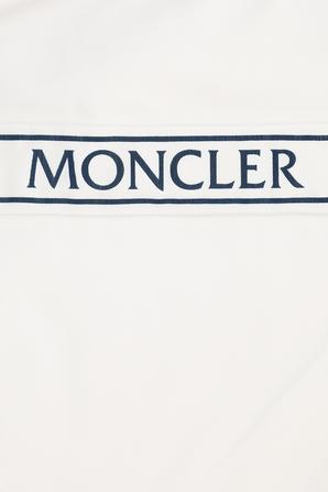 גילאי 4-6 בגד ים לוגו שלם בלבן ונייבי MONCLER KIDS