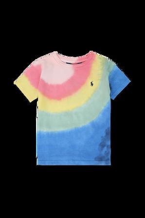 גילאי 8-16 חולצת טי בעיצוב טאי דאי צבעוני POLO RALPH LAUREN KIDS