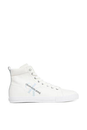 נעלי סניקרס מקנבס ברכיסה בגבוהה בצבע לבן CK FTW