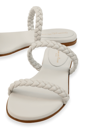 Marley 05 Flats in White GIANVITO ROSSI