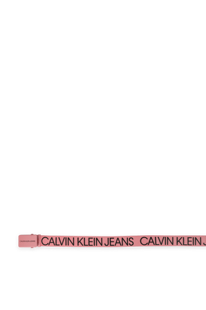 חגורה לוגוטייפ ורודה CALVIN KLEIN