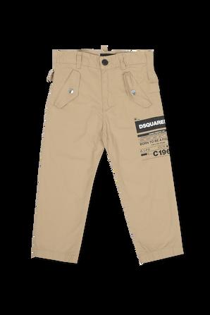 גילאי 4-16 מכנסיים ארוכים חומים DSQUARED KIDS
