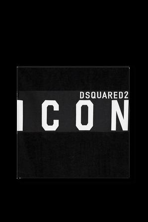 Icon Beach Towel in Black DSQUARED2