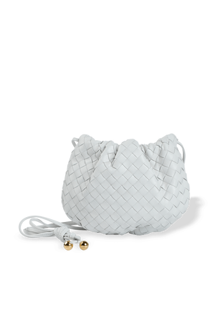 The Mini Bulb Shoulder Bag in White BOTTEGA VENETA
