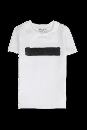 גילאי 6-12 חולצת טי לבנה עם לוגו גרפיטי GIVENCHY KIDS