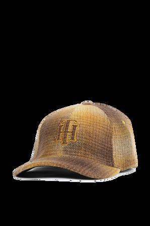 כובע מצחייה מצמר וכותנה בצבעי צהוב וחום TOMMY HILFIGER
