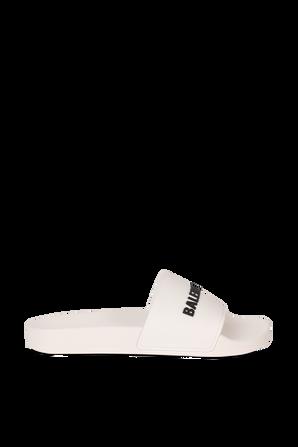 Pool Slide Sandal in White BALENCIAGA