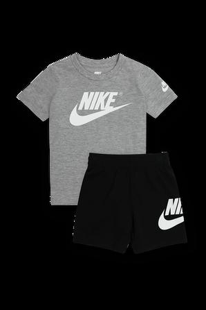 גילאי 2-4 סט חולצה ומכנסיים בשחור ואפור NIKE