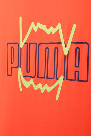 Triple Double Basketball Tank Top in Orange PUMA