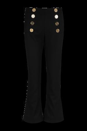 Cropped Twill Pants in Black BALMAIN