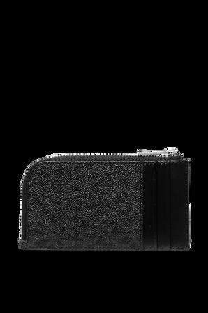 Monogram Canvas Zip Wallet in Black MICHAEL KORS
