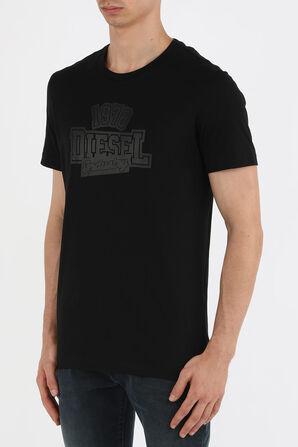 חולצת טי סלים עם לוגו בצבע שחור DIESEL