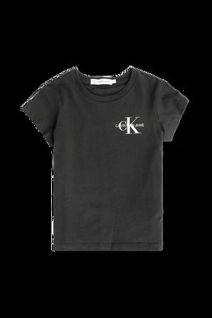 גילאי 4-16 חולצת טי עם לוגו אייקוני בחזה CALVIN KLEIN