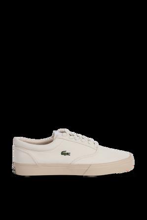 נעלי סניקרס עם לוגו בצבע אוף-וויט LACOSTE