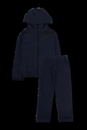 גילאי 4-7 סט ארוך מכנסיים וסווטשירט ממותגים בגוון כחול כהה NIKE