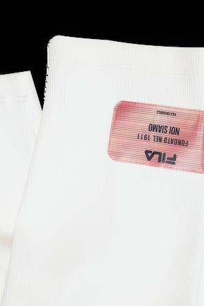 גילאי 6-16 מכנסי טייץ קצרים בצבע לבן FILA