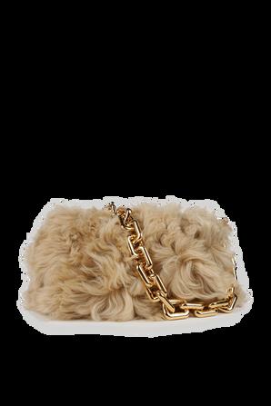 The Chain Pouch in Brown Fur BOTTEGA VENETA