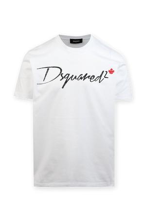 Graphic Tee in White DSQUARED2