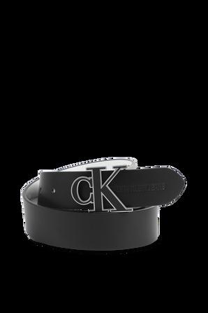 חגורה מעור עם לוגו בצבע שחור CALVIN KLEIN