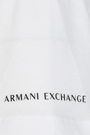 Organic Cotton White Logo T-Shirt ARMANI EXCHANGE