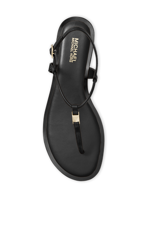 Glitter Chain-Mesh Sandal in Black MICHAEL KORS