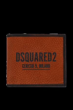 ארנק לוגו בצבע חום DSQUARED2