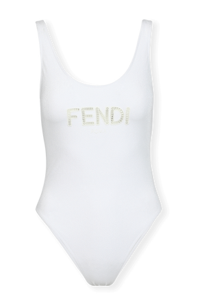 One-Pice Swimsuit in White FENDI