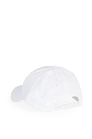 Monogram Cotton Cap In White CALVIN KLEIN