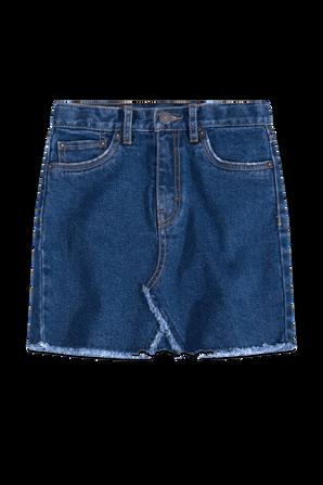 גילאי 7-16 חצאית דנים בגזרה גבוהה בגוון כחול LEVI`S KIDS