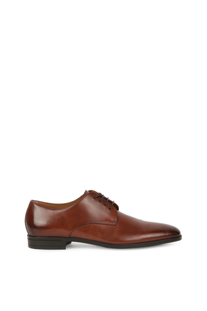 Derby Shoes in Embossed Brown Leather BOSS