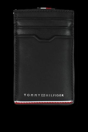 Commuter Vertical Cerdit Card Holder in Black TOMMY HILFIGER
