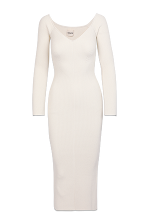 The Pia Dress in Ivory KHAITE