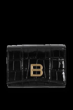 Hourglass Wallet in Black BALENCIAGA