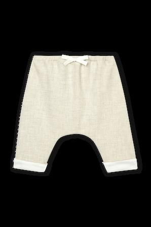גילאי 1-18 חודישם מכנסיים ארוכים עם שרוכים בגוון טבעי PETIT BATEAU