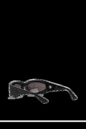 Rectangular Frame Sunglasses in Black BOTTEGA VENETA
