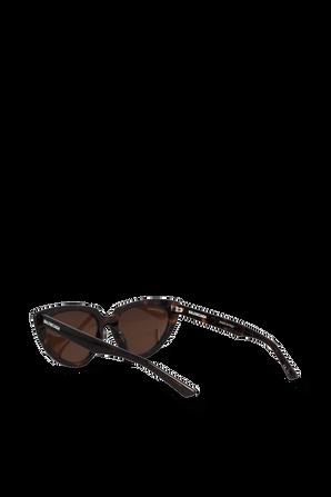Gold Tone Logo Sunglasses in Brown BALENCIAGA