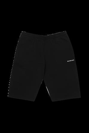 גילאי 4-10 מכנסיים קצרים בשחור BALENCIAGA KIDS