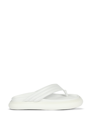 Flat Thong Alton Flip Flops in White THE ATTICO