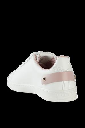 Backnet Sneaker in White Leather VALENTINO