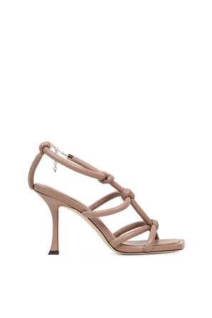 Bay 90 Leather Sandals in Nude JIMMY CHOO