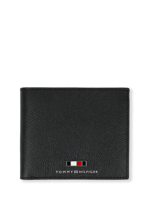 Business Leather Wallet in Black TOMMY HILFIGER