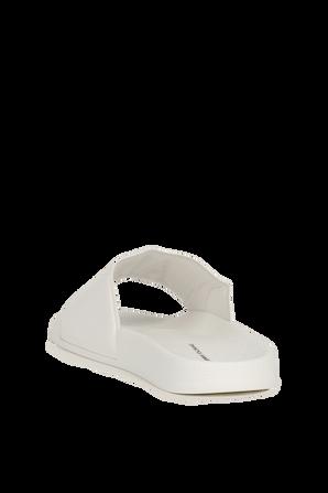Logo Sliders in White ARMANI EXCHANGE