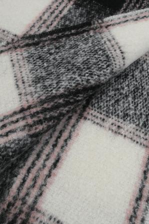 Wool Plaid Scarf in Black and Brown HUGO