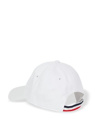 Logo Baseball Cap in White MONCLER