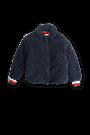 גילאי 8-14 מעיל צמרירי בצבע כחול TOMMY HILFIGER KIDS