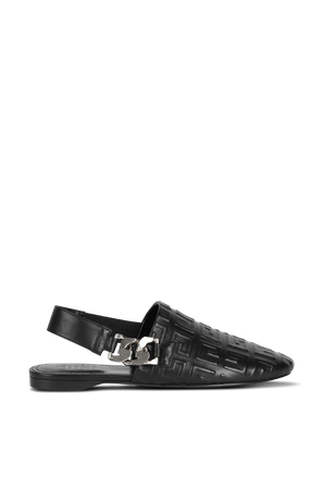 4G-Motif Flat Mules in Black GIVENCHY