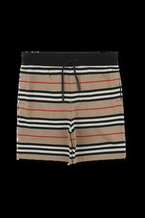 גילאי 3-14 מכנסיים קצרים בפסים אייקוניים BURBERRY