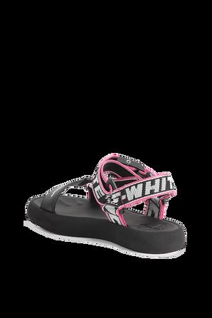 Trek Sandal in Black and Pink OFF WHITE